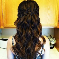 Waterfall Braid with big loose curls  -Bree Lathrop