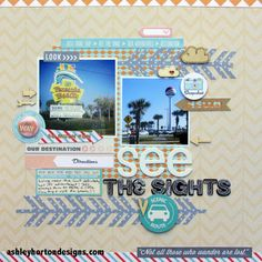 #papercraft #scrapbook #layout   october afternoon travel girl - Google Search