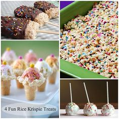 Fun ideas to do with Rice Krispies!