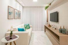Sala de estar decorada: 70 incríveis ideias de decoração! Sala Grande, Decorating Small Spaces, My House, Curtains, Living Room, Interior Design, Storage, Home Decor, Room Ideas