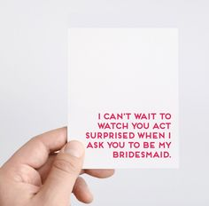 Spade Stationery - Bridesmaids Proposal Cards from Etsy