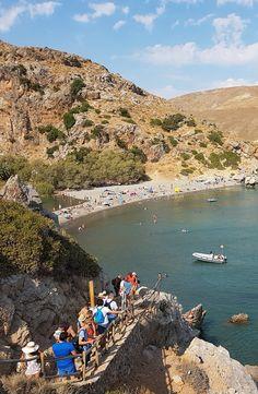 Preveli Palm beach in south Rethymno, Crete!