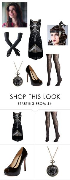"""""""1927 Flapper Girl"""" by scarlette-13 ❤ liked on Polyvore featuring Avenue, Schutz, women's clothing, women, female, woman, misses, juniors, scarlette13 and scarletteRP"""