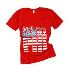 Gamma Phi Beta American theme shirt- custom group order  www.crescentcorner.com