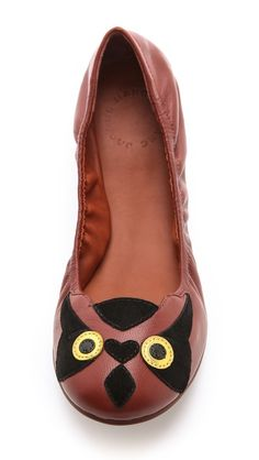 Marc by Marc Jacobs Elastic Owl Ballet Flats- let your Doss pride show, let the people know!