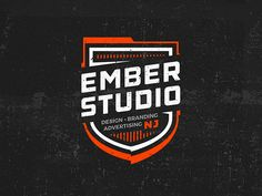 Ember Badge designed by Mike McDonald. Connect with them on Dribbble; Typography Logo, Logo Branding, Branding Design, Kids Graphic Design, Graphic Design Posters, Pet Logo, Monogram Logo, Welding Logo, School Shirt Designs