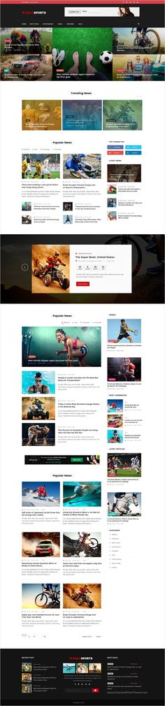 DailySports is a wonderful #PSD #template for #magazine and news website with 5 different homepage layouts download now➩ https://themeforest.net/item/dailysports-sports-magazine-and-blog-psd-template/17213922?ref=Datasata