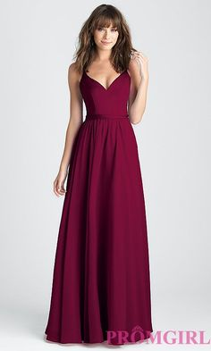 45ed97405b Classic A-Line Long Prom Dress in Burgundy Red. Homecoming DressesProm ...