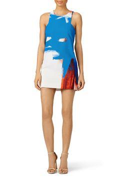 Milly Modern Abstract Print Mini Dress