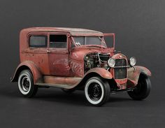 "1929 Ford model ""A"" Tudor, 1/25 scale. By Adam Grabowski. #model_cars #scale_model http://www.modelwork.pl/viewtopic.php?f=73&t=46433&sid=bd8c110b0c816df662a002dbf0d92eee"