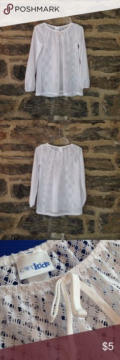 Girls lace coverup White lace top for girls. Perfect for a coverup over a swimsuit. Really light and airy. Never worn. Could also fit as a woman's XS. Swim Coverups