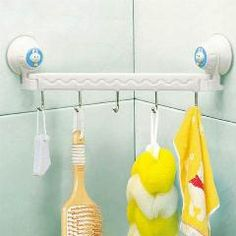 [ 40% OFF ] New Bathroom Products Suction Wall Five Linked Hook For Home Bathroom Storage Hanger