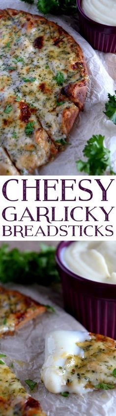 Dripping with gooey cheese; and, seasoned with garlic, oregano, and basil, Cheesy Garlicky Breadsticks promise to be your new go-to finger food, appetizer, and guilty pleasure. About 20 minutes from start to finish, Cheesy Garlicky Breadsticks can kick off any…