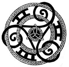 Triskle tattoo- backpiece by Agrovent.deviantart.com on @DeviantArt