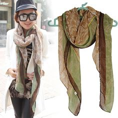 Discount Green Color Matching Soft Design Voile Fashion Scarves,Priced At Only US  $2.38.