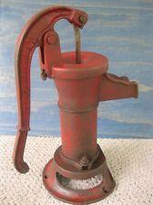 Antique Water Well Pump - Primitive Cast Iron, Original Factory Red Paint