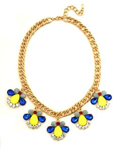 Bzz bzz from the busy little bee in blue.  These drops of jeweled buggies is perfect to incorporate Summer with pops of color.  #crystal #necklace #statement #bauble #jewelry #nail #polish #pink #gold #stone #pendant #neckcandy #neckparty#earrings #jewels #flowers #rhinestone #crystal #studs #jewelry #fashion #style