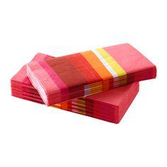 IKEA - SOMMAR 2015, Tovagliolo di carta, I tovaglioli hanno una buona capacità di assorbimento perché sono costituiti da tre strati di carta.