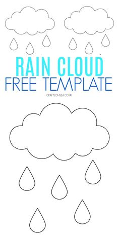 Grab our free rain cloud template and start making some simple rain crafts for kids! This free PDF is perfect for weather crafts and activities for kids. Weather Activities Preschool, Spring Activities, Craft Activities For Kids, Daycare Crafts, Toddler Crafts, Preschool Crafts, Rain Crafts, Cloud Template, Weather Lessons