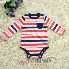 3M-6M-9M-Baby-Boy-Rompers-Infant-Toddler-Striped-Long-Sleeve-Cotton-Bodysuits