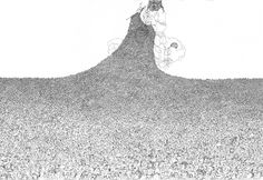 """how to draw a crowd   The background crowd scene is based on a drawing in the book """"En ..."""