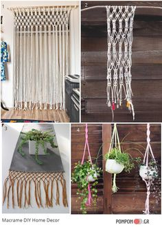diy ιδεες για μακραμέ στη διακοσμηση - Macrame DIY Home Decor Ideas