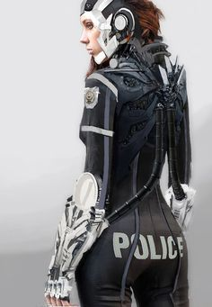 fuck yeah cyberpunk — Police Officer by LoopyWanderer Cosplay, Science Fiction, Rude Mechanicals, Steampunk, Art Manga, Cyberpunk Character, Cyberpunk Rpg, Sci Fi Armor, Future Soldier