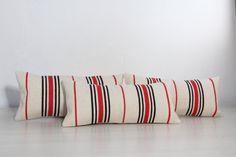 Pillow Set 3PCS  21x10 Striped Pillow Kilim by AreaRugsKilims