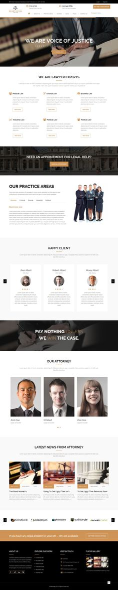 Miako Legal Law Firm Bootstrap HTML5 Template has 4 stunning home pages and 9 others pages layouts.