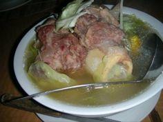 """Cebuano """"pochero"""" (bulalo/beef shank) with bamboo shoots, cabbage, and corn (Abuhan, Cebu City)"""
