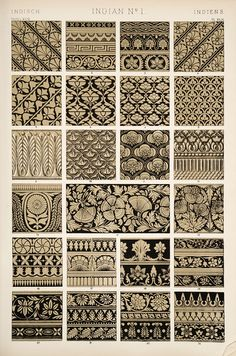 "Indian Ornament _ from the book, ""The grammar of ornament"" (1910) __ Jones, Owen, (1809-1874)"