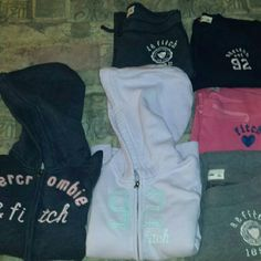 Abercrombie girls sweats. Gently used and in perfect condition. 4 pairs of pants and 2 jackets. Looks brand new. Abercrombie & Fitch Other