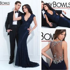 Luxury V Neck Cap Sleeves Dark Navy Lace Evening Dresses 2014 Keyhole Back Sheath Prom Party Dresses