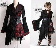 Lolita Punk Cosplay Gothic Kimono Dress Skirt Set M Punk Dress, Goth Dress, Kimono Dress, Dress Skirt, Skirt Set, Dress Up, Easy Dress, Lolita Fashion, Gothic Fashion