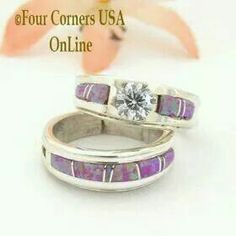 ... http://stores.fourcornersusaonline.com/native-american-engagement-wedding-ring-sets/