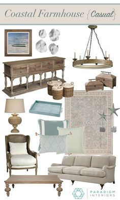 Paradigm Interiors is a residential interior design firm located in the Orlando area that specializes in eDesign nationwide and in-home design for local clients. Coastal Farmhouse, Coastal Cottage, Coastal Decor, Coastal Style, Farmhouse Style, Modern Coastal, Farmhouse Decor, Coastal Entryway, Modern Country