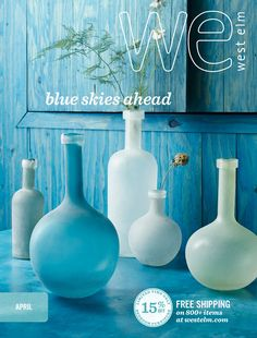 West Elm giveaway and some amazing blue spring colours