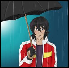 Keith in the rain from Voltron Legendary Defender