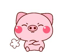 Cute Cartoon Images, Cartoon Gifs, Cute Images, Cute Pictures, Gif Lindos, Pig Wallpaper, Cute Piglets, Pig Drawing, Pig Illustration