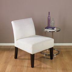 Avenue Six Laguna Chair, Oyster, Brushed Fabric