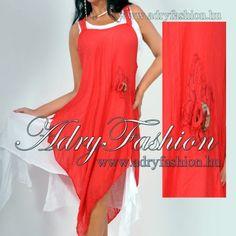 Két részes lenge fehér-piros női ruha - AdryFashion női ruha webáruház 55672bccd9