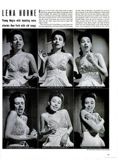 Lena Horne - LIFE 4 Jan 1943.....got some plans for this element....also Lena Horne is beautiful