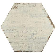 SomerTile 14.125x16.25-inch Lambris Blanc Hex Porcelain Floor and Wall Tile (Case of 9) - 18598278 - Overstock - Big Discounts on Somertile Floor Tiles - Mobile