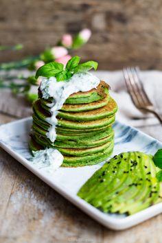 Easy vegan Savory Kale Pancakes - Klara`s Life