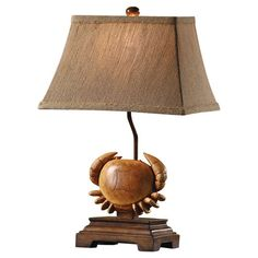 Perfect for adding a pop of natural style to your sideboard or end table, this charming table lamp pairs well with faux fruits, bright blooms, and lush topia...