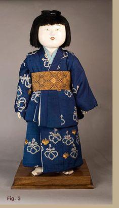 "Mitsuore gosho-ningyô, Edo Period,  18th century, 36"" tall. Author's Collection  via antique japanese dolls.com"