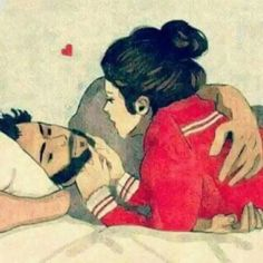 116 images about Jolie couple 💑 💗 💏 on We Heart It Love Cartoon Couple, Cute Couple Art, Cute Love Cartoons, Bff Drawings, Couple Drawings, Cute Muslim Couples, Cute Couples, Sarra Art, Animated Love Images