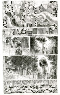 Rhubarb and Raspberries on Behance Comic Books Art, Book Art, Comic Layout, Graphic Novel Art, Comic Manga, Mini Comic, Comic Panels, Comic Styles, Character Drawing