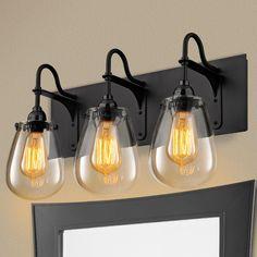 Beaker Glass Bath Light  3 Light  Vanities Glasses and Inspiration