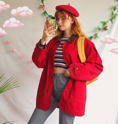 Best Retro Outfits That Women Should Add To Their Wardrobe 17 - Fashionmgz Retro Outfits, Indie Outfits, Hipster Outfits, Vintage Outfits, Cool Outfits, Casual Outfits, Korean Outfits, Cute Fashion, Look Fashion